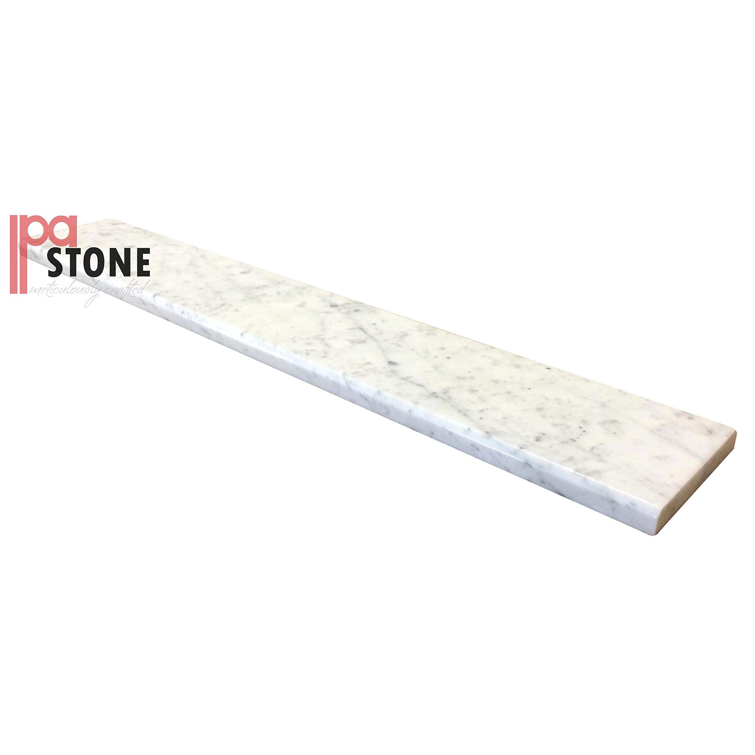 White Carrara Marble Threshold - Size 30 x 5 Inch - Bianco Marble Saddle