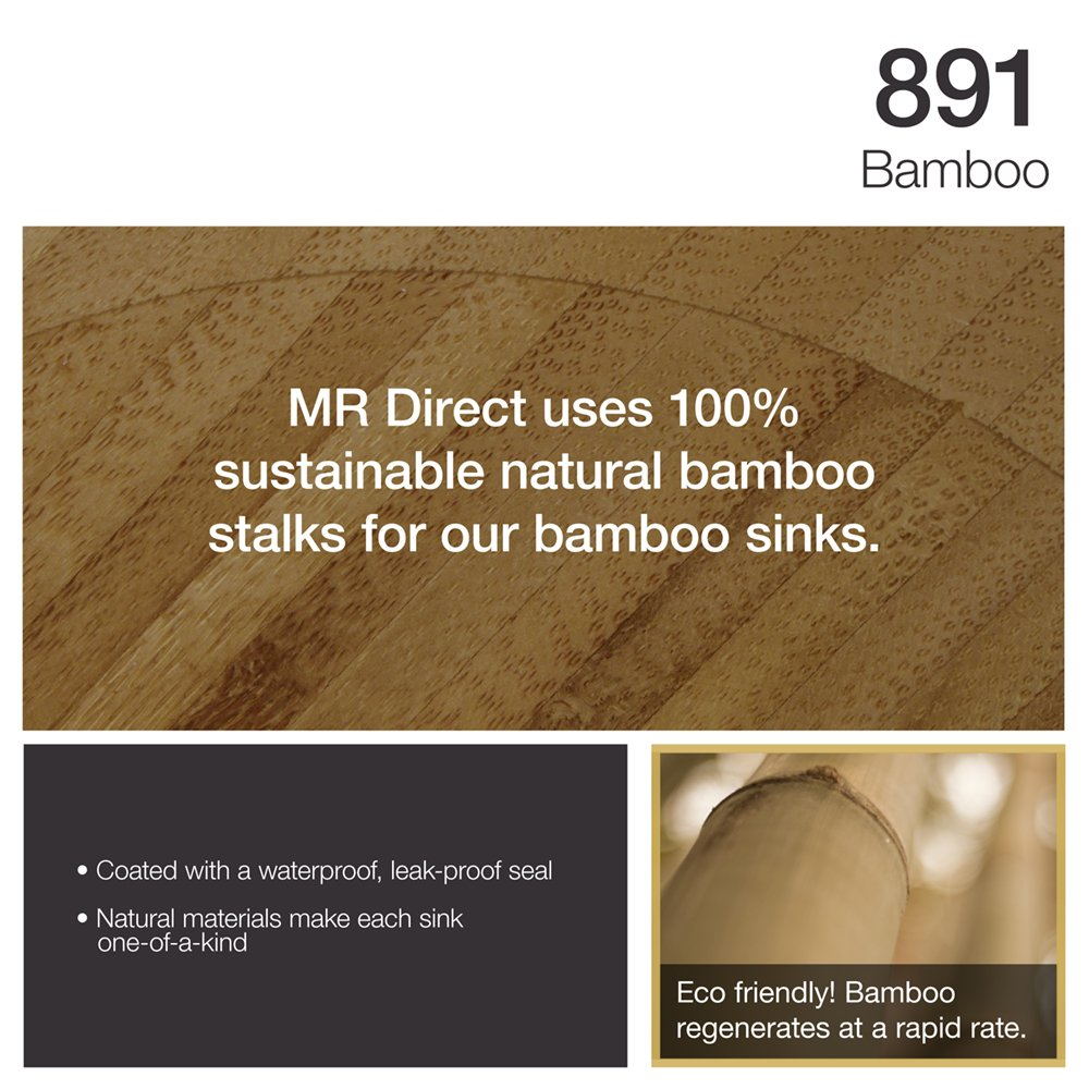 891 Bamboo Vessel Bathroom Sink - - Amazon.com