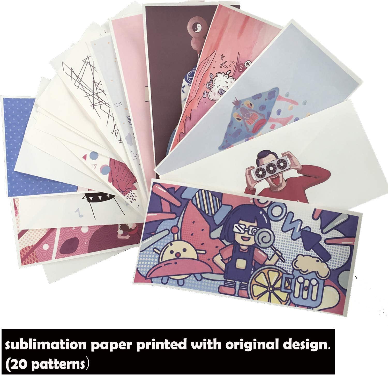 JUSTRY Sublimationspapier bedruckt mit Originaldesign perfekt f/ür jede Sublimationszufuhr for Customize Sublimation Mug 20,3 x 9,5 cm