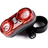 Greenclick Waterproof Led Bike Rear Lights Super Bright Danger Zone Cycle Tail Light Powerful Bicycle Taillights With 2 AAA Batteries for Cycling Safety