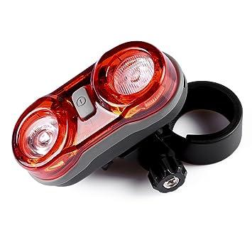 Luces LED Traseras para Bici, Super Brillante Rojo y Fácil de Instalar, Faro Trasero Bici con 2 pilas AAA para la Máxima Seguridad del Ciclista: Amazon.es: ...