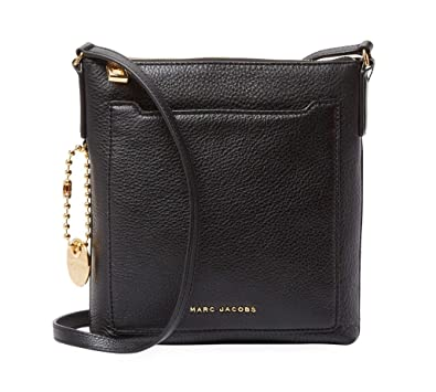 Amazon.com  Marc Jacobs Leather Crossbody Bag (Black)  Shoes d2d9348eba0f3