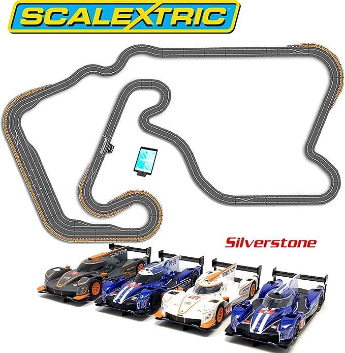 Scalextric SL11 2018 - Set digital para coche ARC Pro Silverstone 4, diseño de JadlamRacing: Amazon.es: Juguetes y juegos