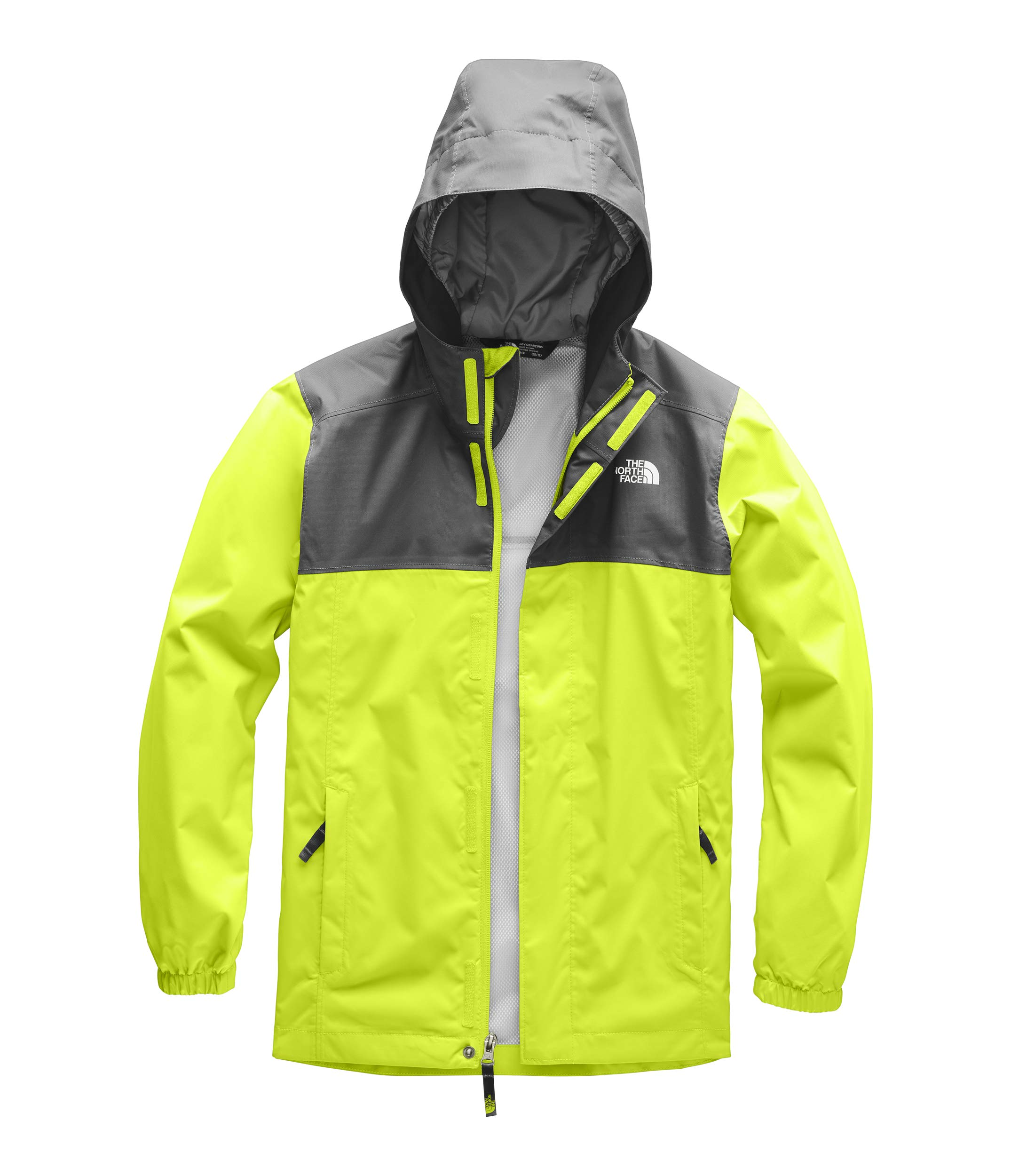 The North Face Kids Boy's Resolve Reflective Jacket (Little Kids/Big Kids) Lime Green Small by The North Face (Image #1)