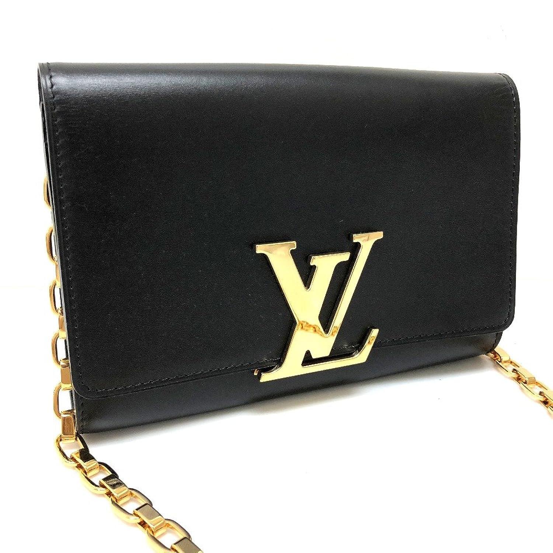 (ルイヴィトン) LOUIS VUITTON M94335 ルイーズMM チェーンウォレット チェーンショルダーバッグ 財布バッグ 長財布(小銭入れあり) レザー/レディース 新品同様 中古 B07DXK9PBF  -