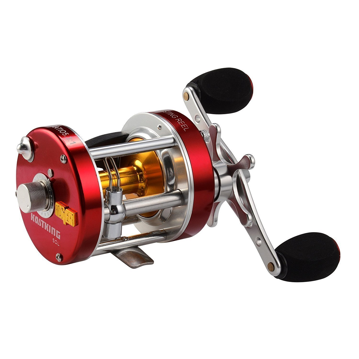 KastKing Rover Round Baitcasting Reel - No. 1 Rated Conventional Reel - Carbon Fiber Star Drag - Reinforced Metal Body by KastKing (Image #1)