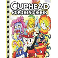 Cuphead coloring book: Cuphead and Mugman. Join Cuphead and his brother Mugman in their adventure