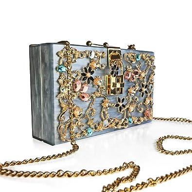 b010aa412bb5d Exclusive-ID - Crystal Floral Clutch Soho  Amazon.de  Schuhe   Handtaschen