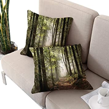 Amazon.com: Michaeal Forest Home Decor Square Couch Pillow ...