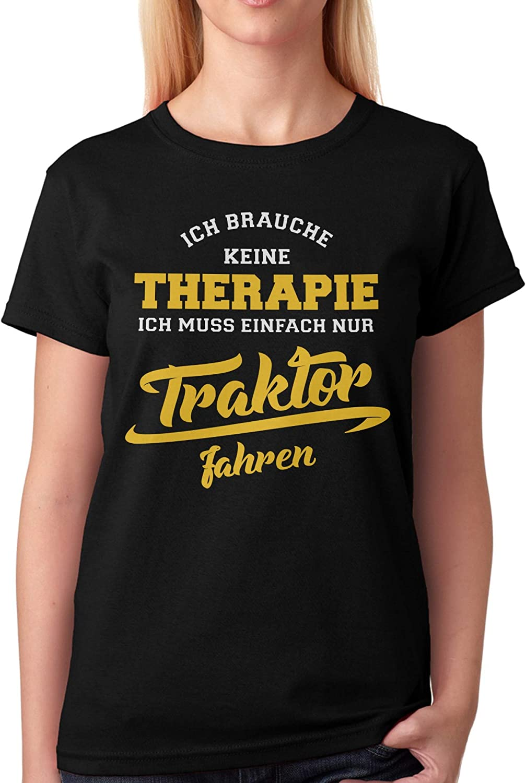 vanVerden Camiseta de Hombre Necesito Terapia Tengo Que Conducir un Tractor: Amazon.es: Ropa y accesorios