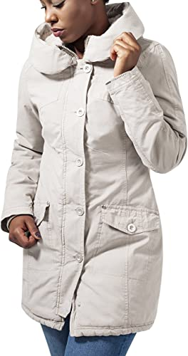 Urban Classics Ladies Garment Washed Long Parka Chaqueta para Mujer