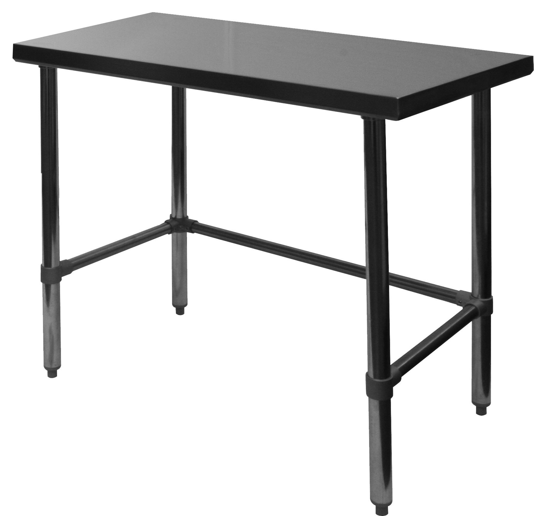 EquipmentBlvd Commercial Grade Premium All Stainless Steel Open Base Flat Top Work Table for Restaurant, Home, Office, Kitchen or Garage, 30'' W x 48'' L x 35'' H, ETL or NSF Certified. by EquipmentBlvd