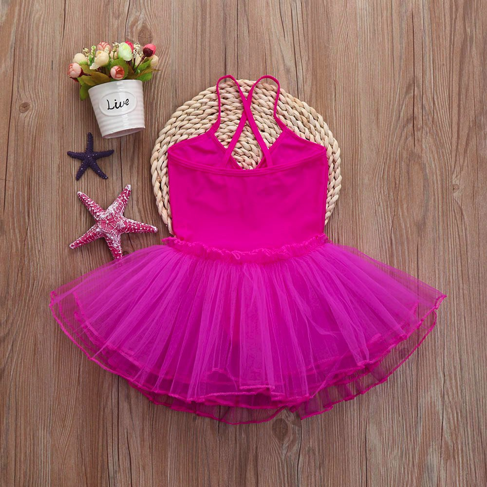 2-6 Years Toddler Girl's Ballet Dress Cute Tutu Dance Dress Gymnastics Strap Sweetheart Leotard Clothes Outfits (Hot Pink, 6T(6 Years)) by Cealu (Image #3)