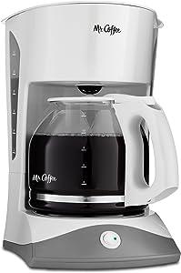 Mr. Coffee 12-Cup Manual Coffee Maker, White (Renewed)