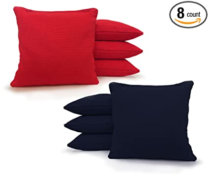 df7eb48c3754 Amazon.com : Regulation Cornhole Bags 17 COLORS Handmade Top Quality (Set  Of 8) (Red/Navy Blue) : Sports & Outdoors