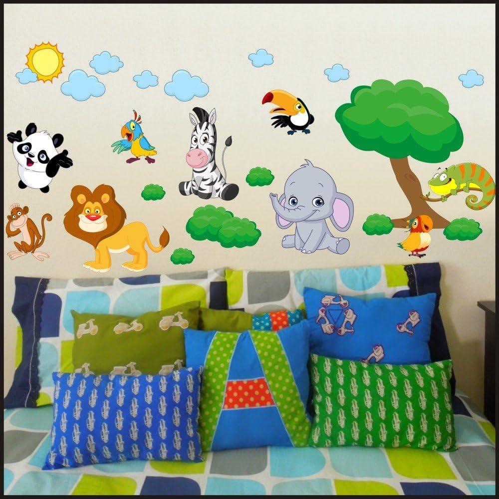 Diseño de animales de la elefantes e hipopótamos raya de la cebra ...