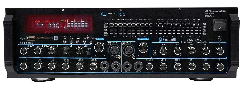Rockville Karaoke Machine System w//Pair 12 Speakers+Bluetooth Mixer Amp+Mics