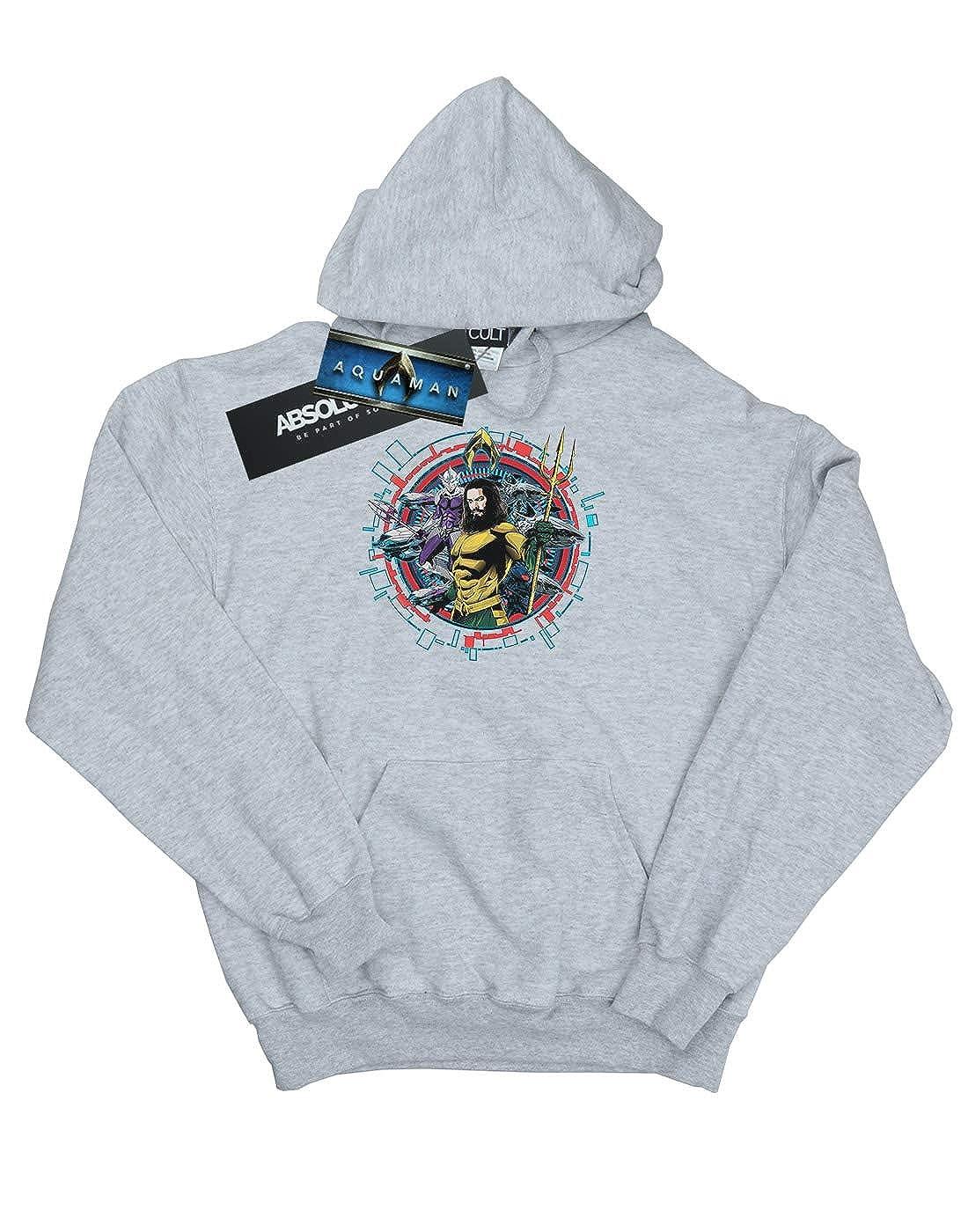 DC Comics Girls Aquaman Circular Crest Hoodie