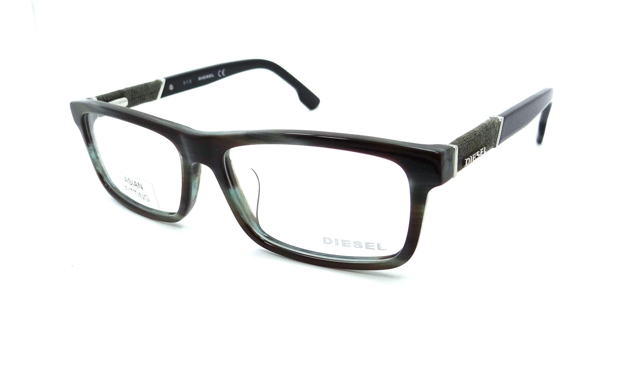 Diesel Rx Eyeglasses Frames DL5126-F 095 58-16-150 Brown Grey Striped Asian Fit