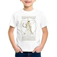 style3 Freddie de Vitruvio Camiseta para Niños T-Shirt da Vinci Live Rock You Festival