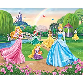 Disney Princess Castle Wallpaper By Walltastic