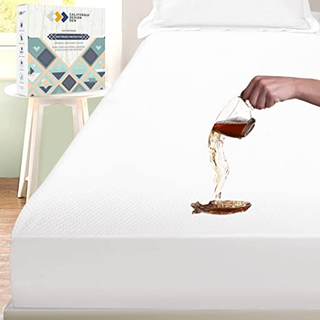 Premium Bamboo Mattress Protector Topper Bed Cover Pad Waterproof Washable US
