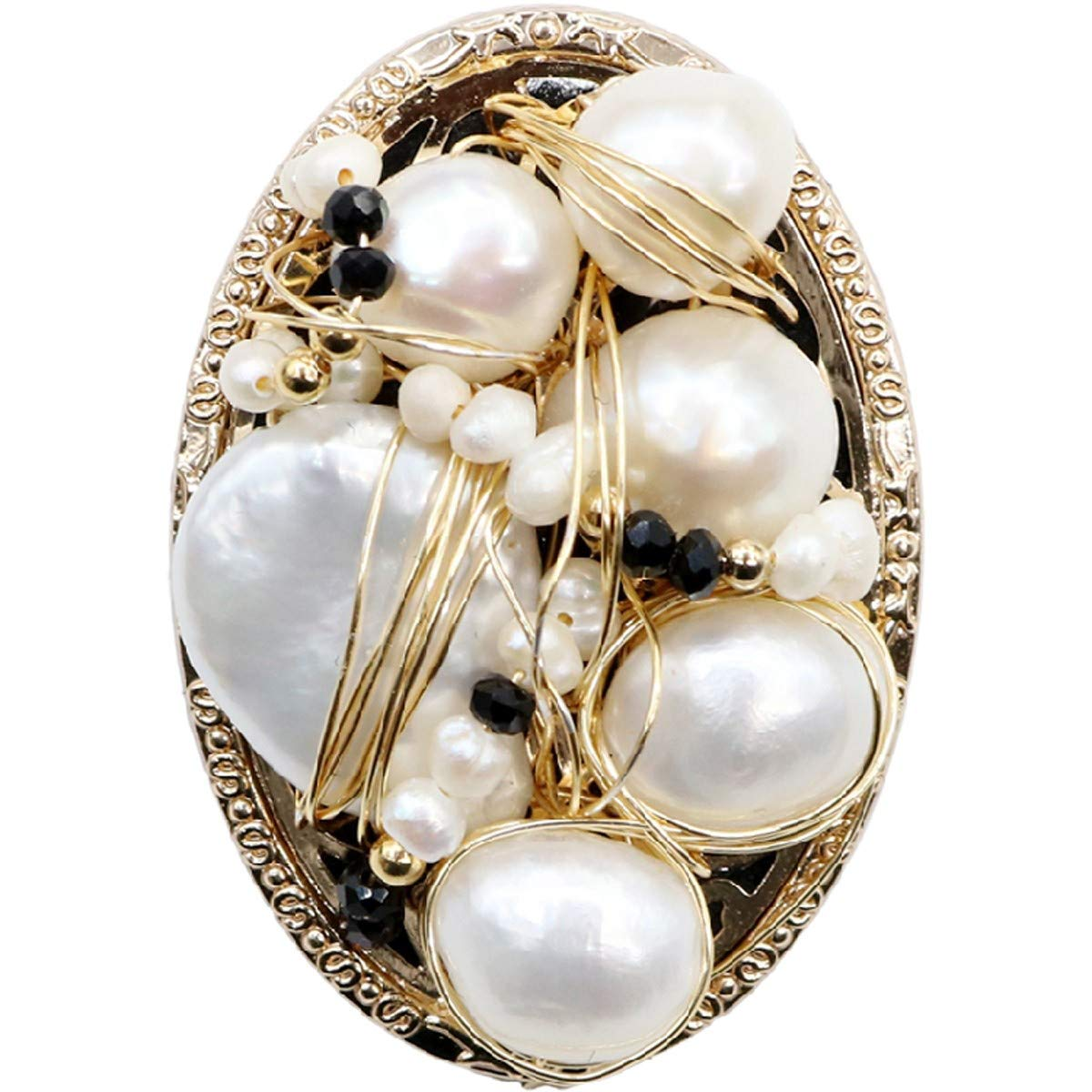 Brightness Uique Design Elegant brooches Pearl Vintage Brooch, Boutonniere, pin, Atmospheric Clothing Accessories Silk Scarf Buckle