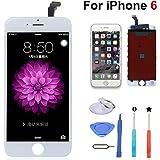 For iPhone 6 交換修理用フロントパネル(タッチパネル) 液晶パネルセット 修理工具付き (ホワイト)