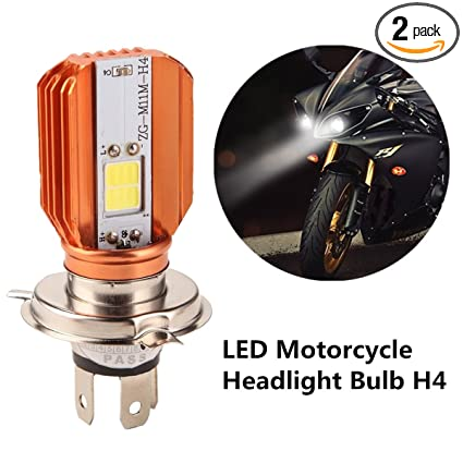 FEZZ Motorcycle LED Headlight Bulb H4 HS1 H6-3 Motorbike Front Light Hi/Lo