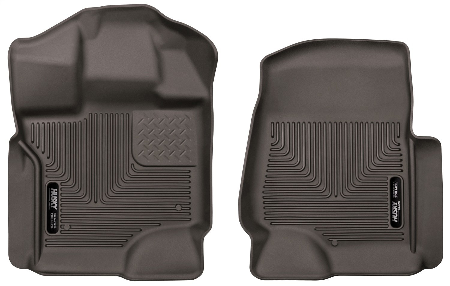 Husky Liners Front 53360 X-act Contour SeriesFront Floor Liners, Cocoa for 2017 Ford F-250/350 Super Duty Crew Cabs, 2 Pack