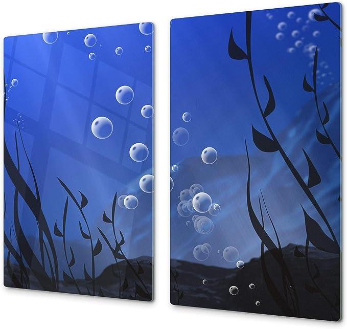 Compra Cubre vitros de Cristal Templado - Tabla para Cortar de Cristal – Tabla para amasar y Protector de vitro – UNA Pieza (60 x 52 cm) o Dos Piezas (30 x