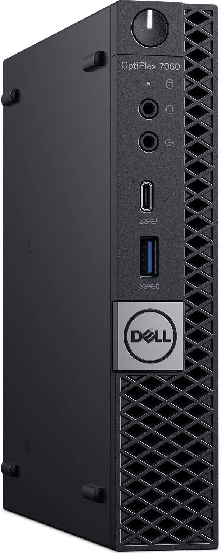 Dell OptiPlex 7060 Micro Form Factor (MFF) Micro-Tower Business Desktop PC, Intel i7-8700T, Crucial 16GB 2666Mhz RAM, Intel PCIe Nvme 1TB SSD, Display Port, Wireless LAN, Ethernet, USB C, Win 10 Pro