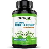 Green Tea Extract with EGCG & Vitamin C - Antioxidant & Immune Supplement - Vegan Skin & Heart Support + Brain Health & Memor