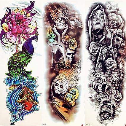 Tatuaje Falso Tatuaje Tatuaje Temporal Hombres Arte Corporal ...