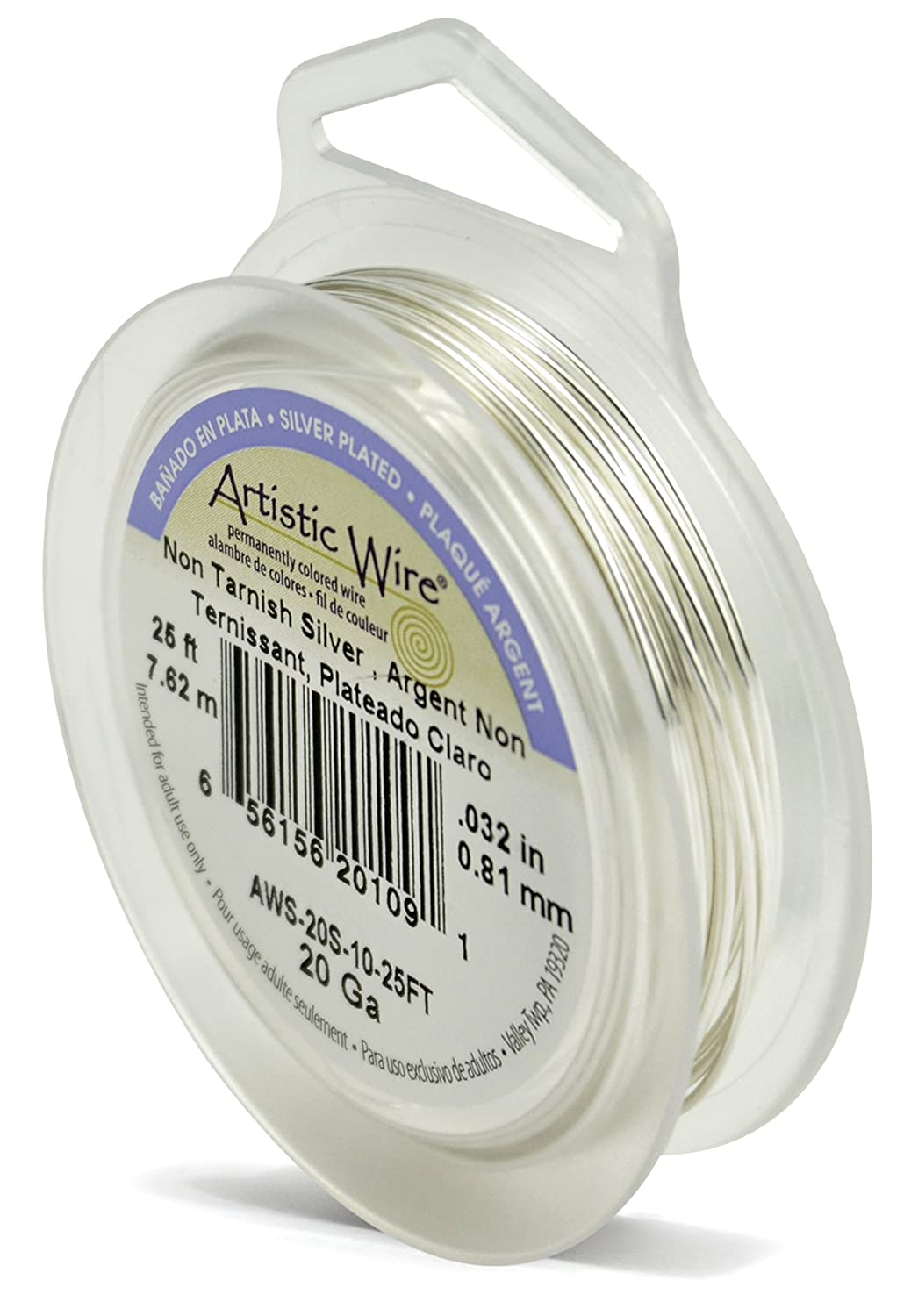 Amazon.com: Artistic Wire 20-Gauge Tarnish Resistant Silver Coil ...