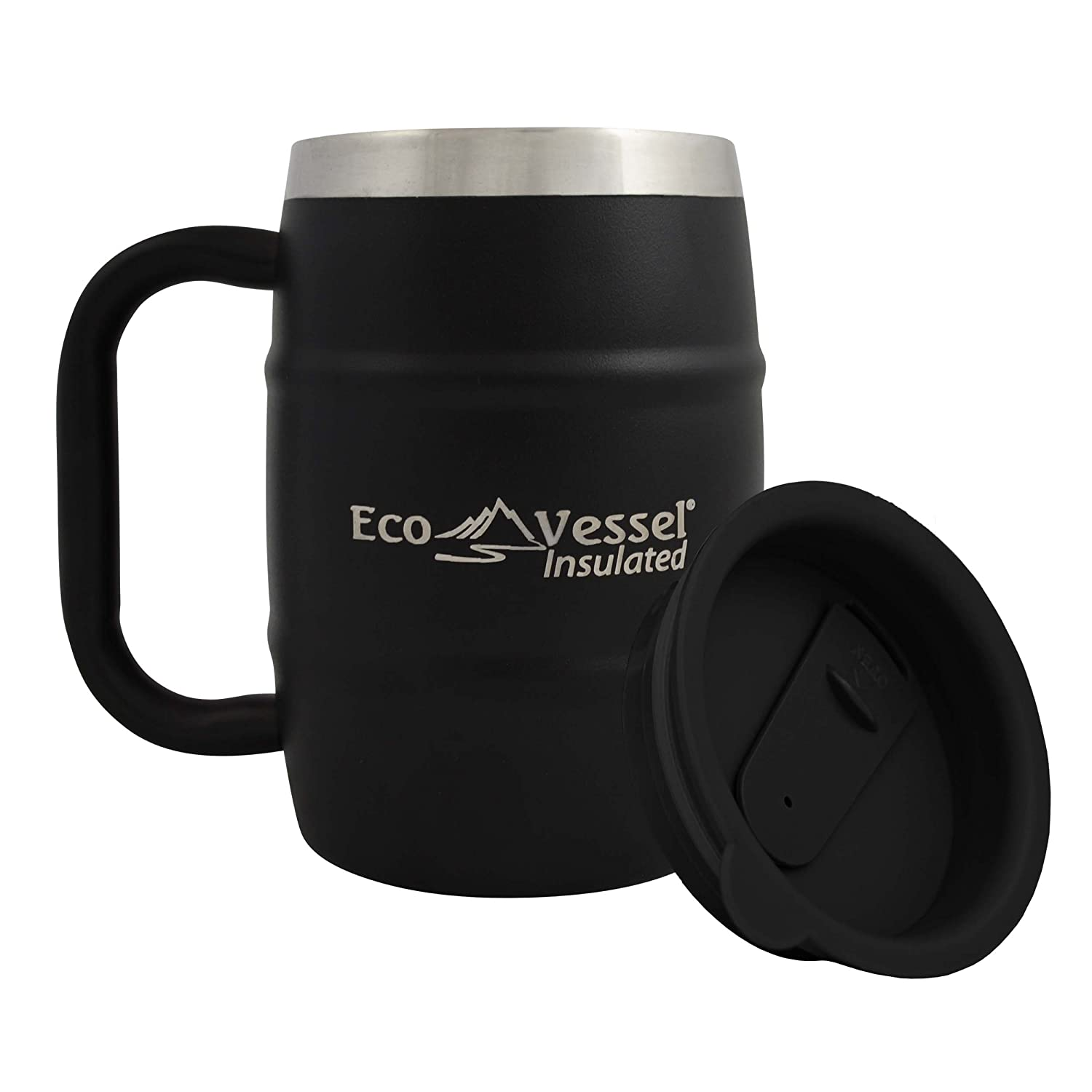 d238378dc24 Eco Vessel Double Barrel mug is the first in our list of best mugs to keep  coffee hot. It is there because of:
