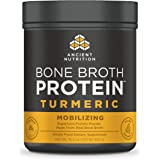 Ancient Nutrition Bone Broth Protein Powder, Turmeric Flavor, 20 Servings Size