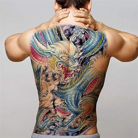 tzxdbh 2Pcs-Large Back Back Tattoo Maori Power Totem Impermeable ...