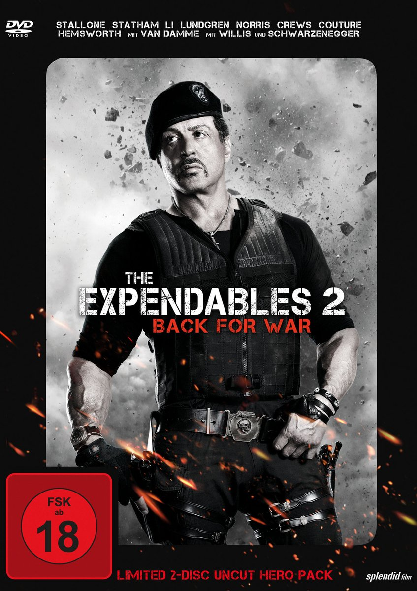 The Expendables 2 - Back for War Limited Uncut Hero Pack, 2 Discs Alemania DVD: Amazon.es: Sylvester Stallone, Jason Statham, Jet Li, Dolph Lundgren, Terry Crews, Randy Couture, Bruce Willis, Arnold Schwarzenegger,