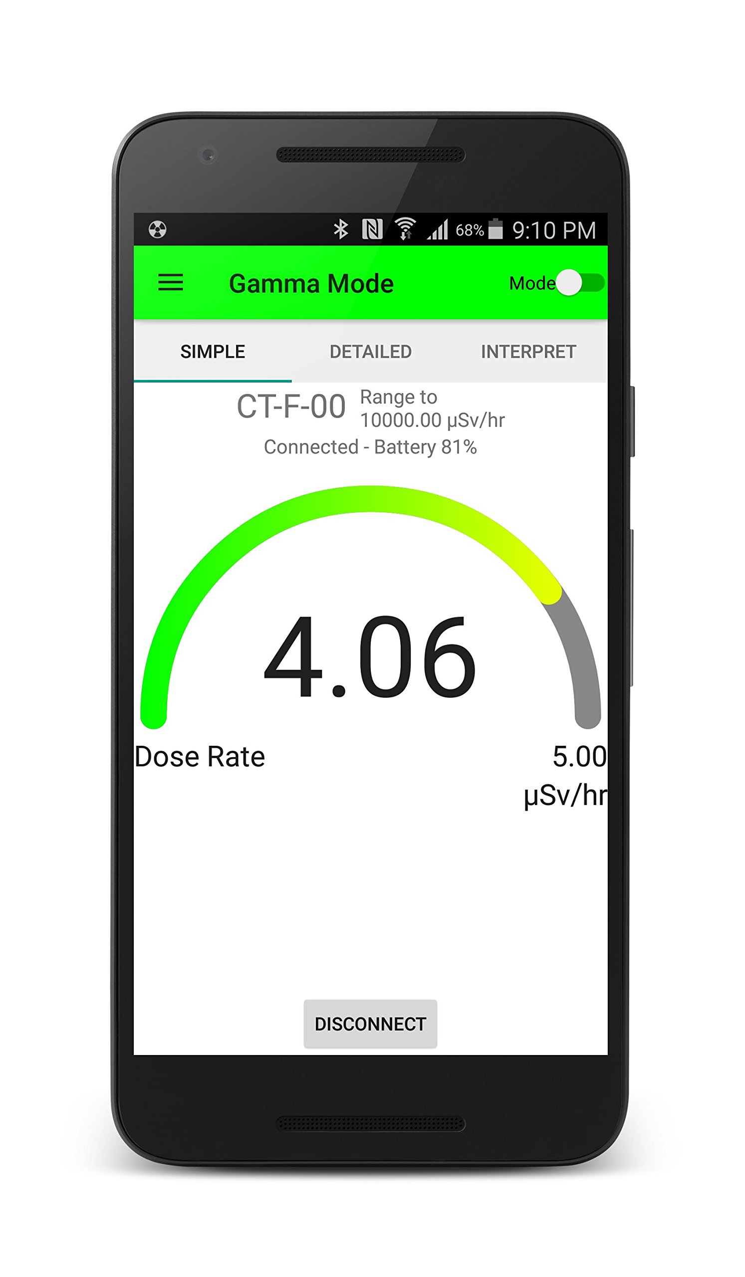 CT007-F Radiation and Radioactive Contamination Detector - Complete Alpha, Beta, Gamma Detection - Bluetooth 4.0 by Environmental Instruments Canada Inc. (Image #7)