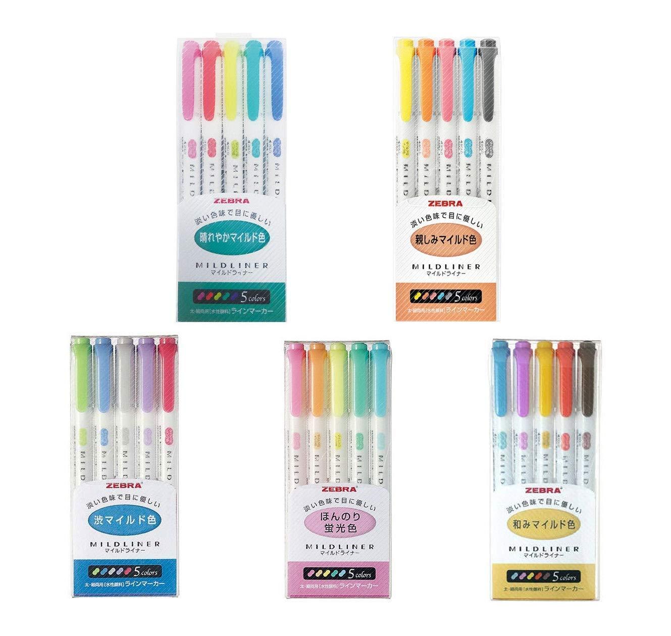 Zebra Mildliner Highlighting Set (25 Colores)