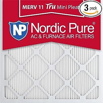 Nordic Pure 14x18x1 MERV 13 Tru Mini Pleat AC Furnace Air Filters 6 Pack