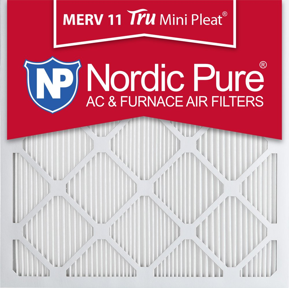 Nordic Pure 20x20x1M11MiniPleat-3 Tru Mini Pleat MERV 11 AC Furnace Air Filters (3 Pack), 20' x 20' x 1' 20 x 20 x 1