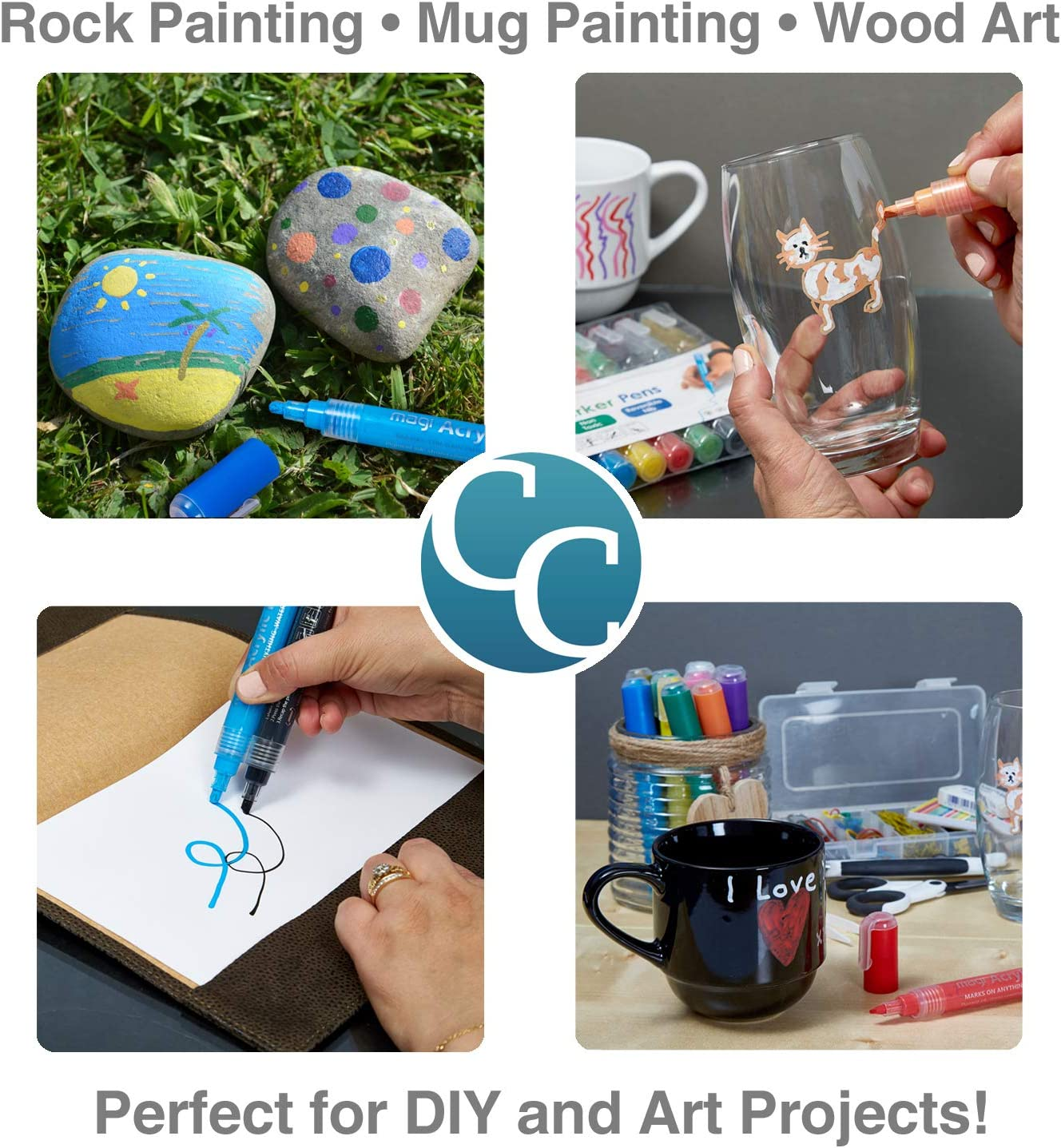 Metal and Ceramic... Cairncraft Paint pens for rock painting Wood Glass