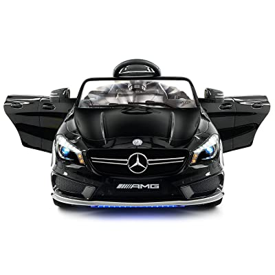 2020 Mercedes Benz CLA 12V Powered Ride On Motorized Toy Car Wheels w/ Remote, Leather Seat, LED Lights: Toys & Games