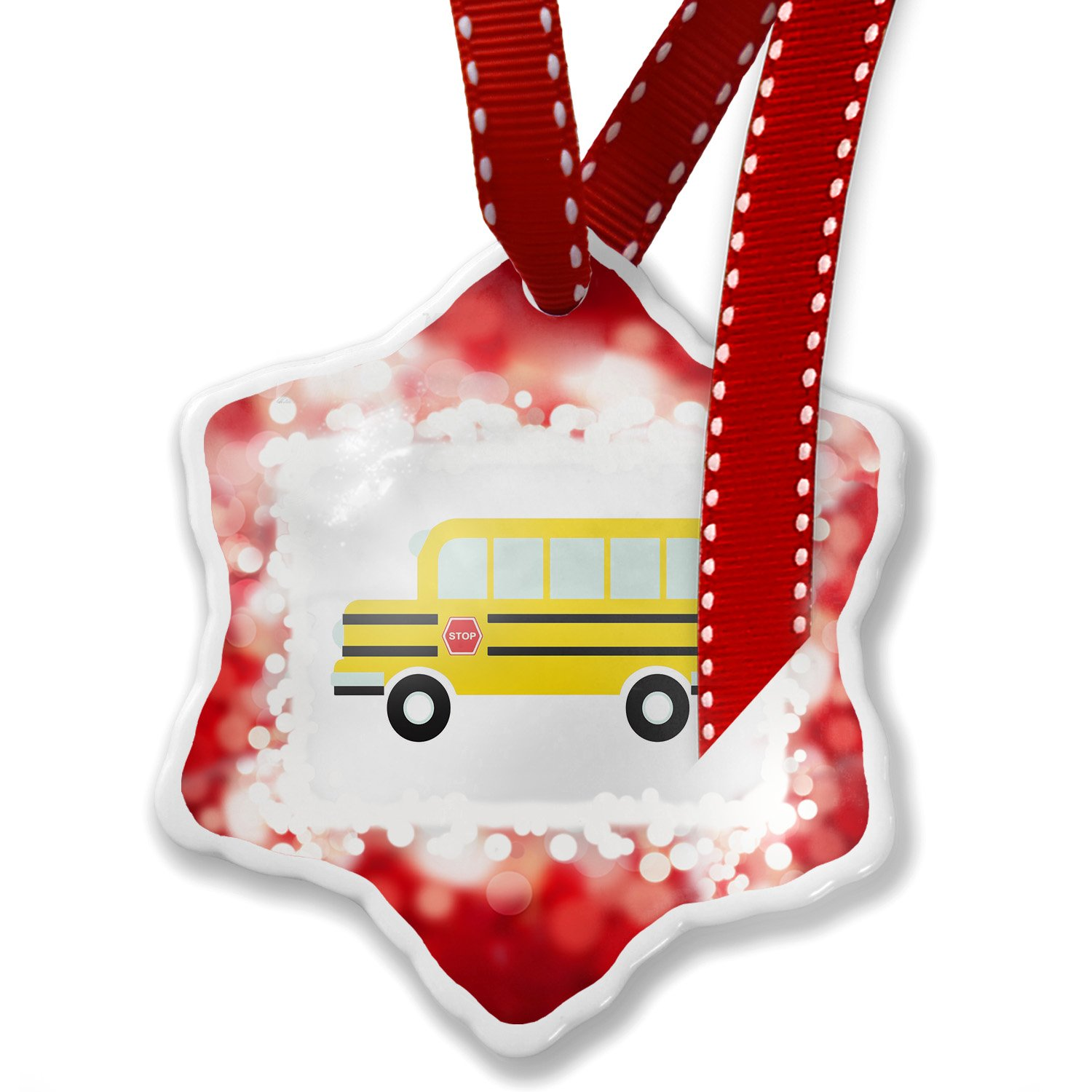 Christmas Ornament Kids Design School Bus, red - Neonblond