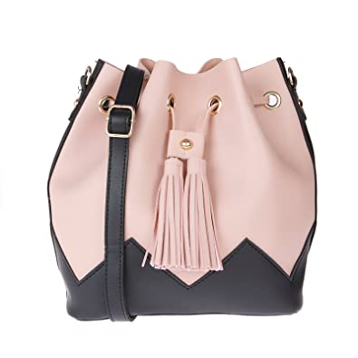 df0e59c2dc3 Image Unavailable. Image not available for. Colour  Fur Jaden Pink Bucket  Sling Bag ...
