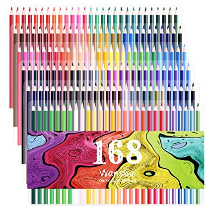 168 Buntstifte Helle Und Deutliche Farben Und Bereits Angespitzte Bunte Stifte Set Für Erwachsene Malbücher Sketching Oder Basteln