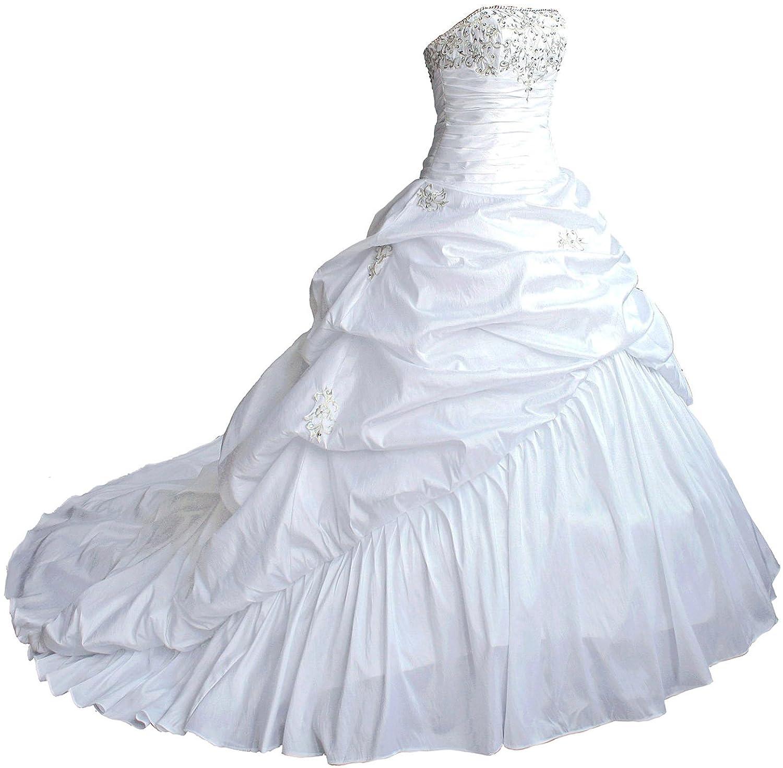 Faironly M045 Liebsten Taft Hochzeitskleid Brautkleider: Amazon.de ...
