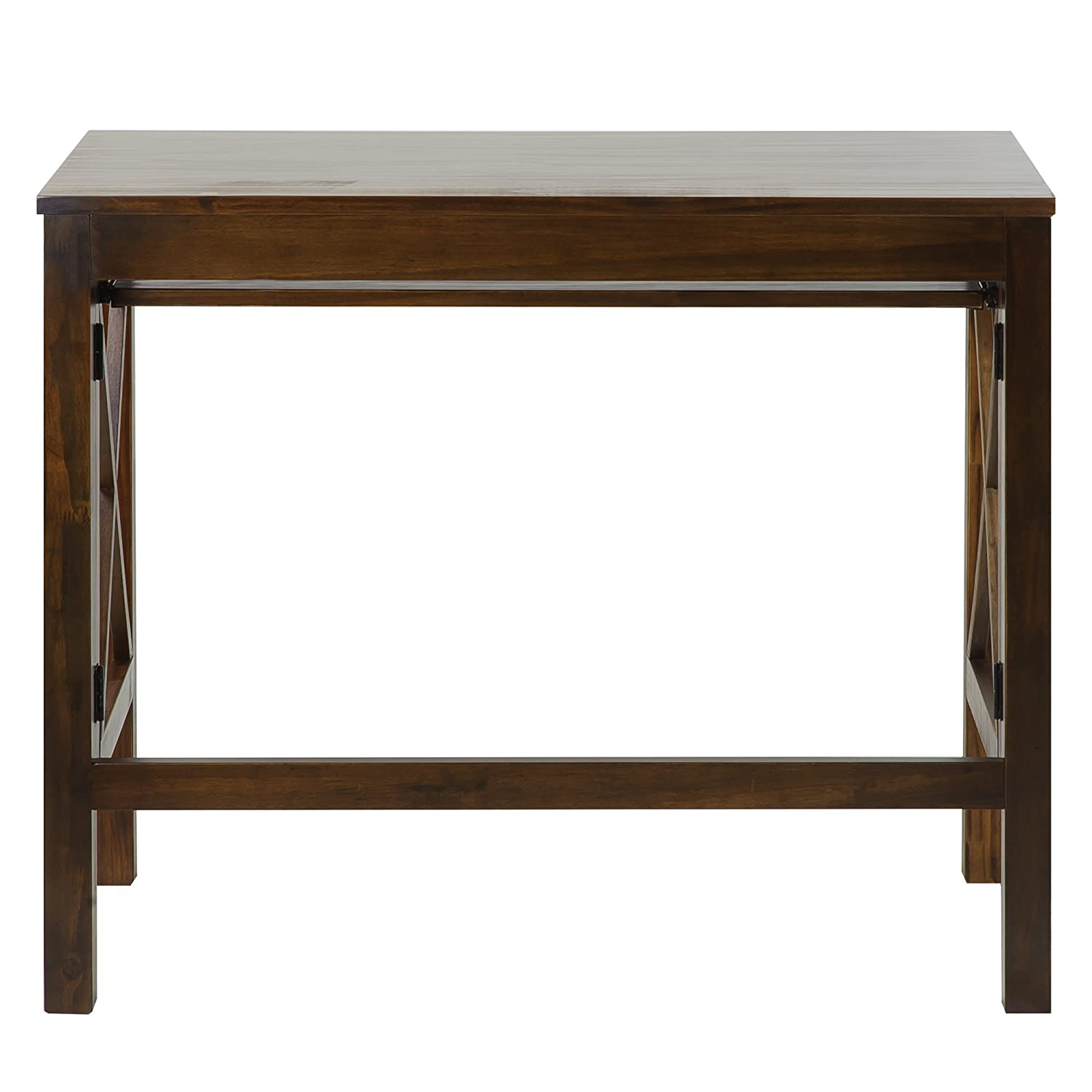 Amazon.com: Casual Home Montego Folding Desk With Pull Out Tray Warm Brown:  Kitchen U0026 Dining